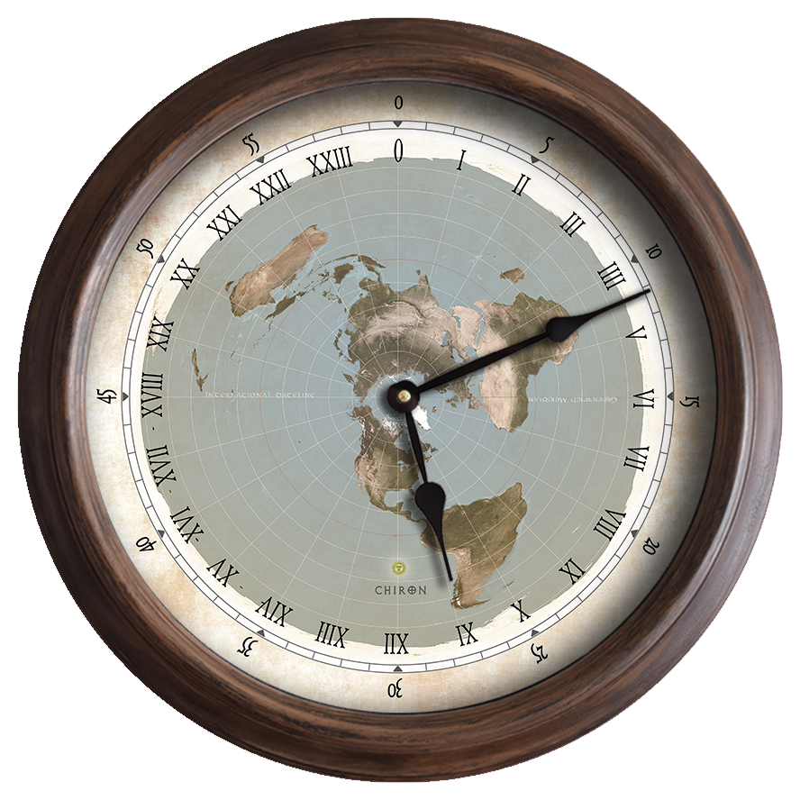 155 flat earth map white roman numerals 24 hour wall clock 155 flat earth map white roman numerals 24 hour wall clock amipublicfo Choice Image