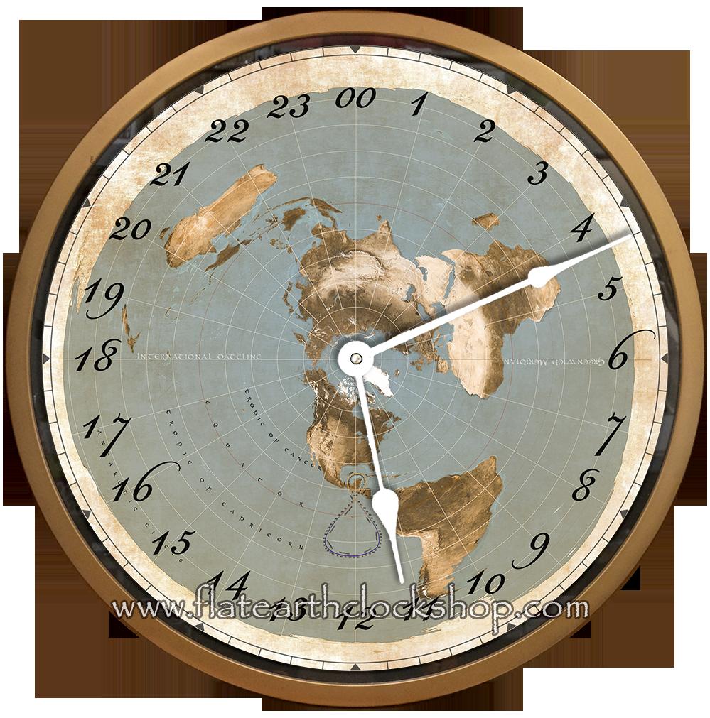 16 Flat Earth Clock 24 Hour Wall Clock Flat Earth