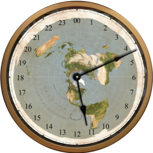 Flat Earth 24 hour clock
